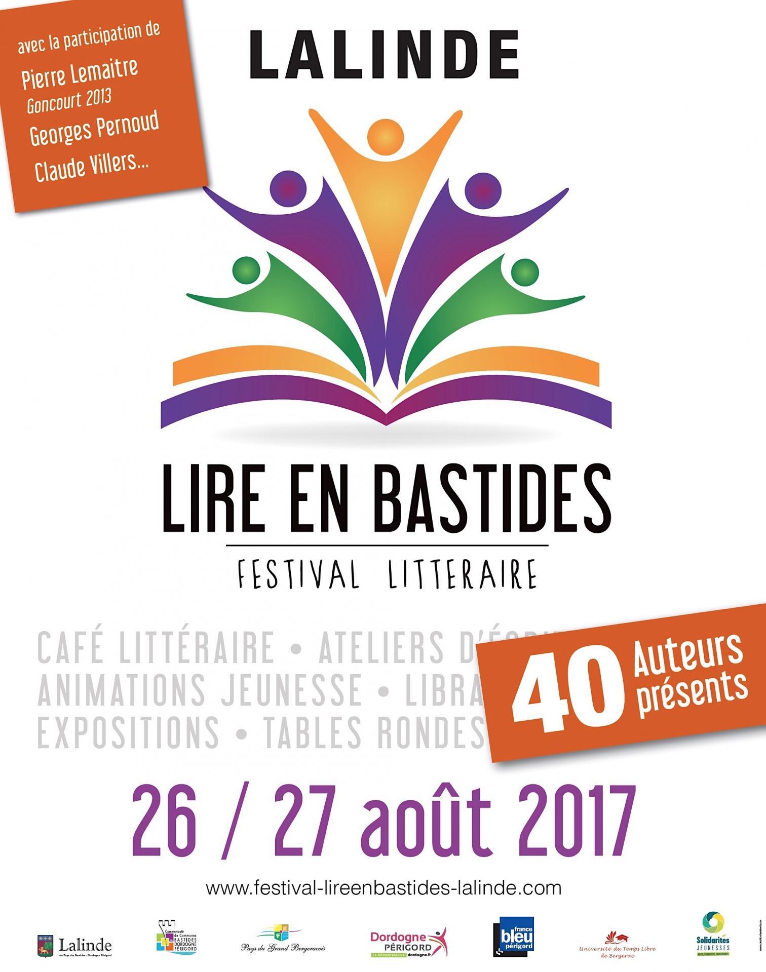 Affche festival litteraire lalinde 2017