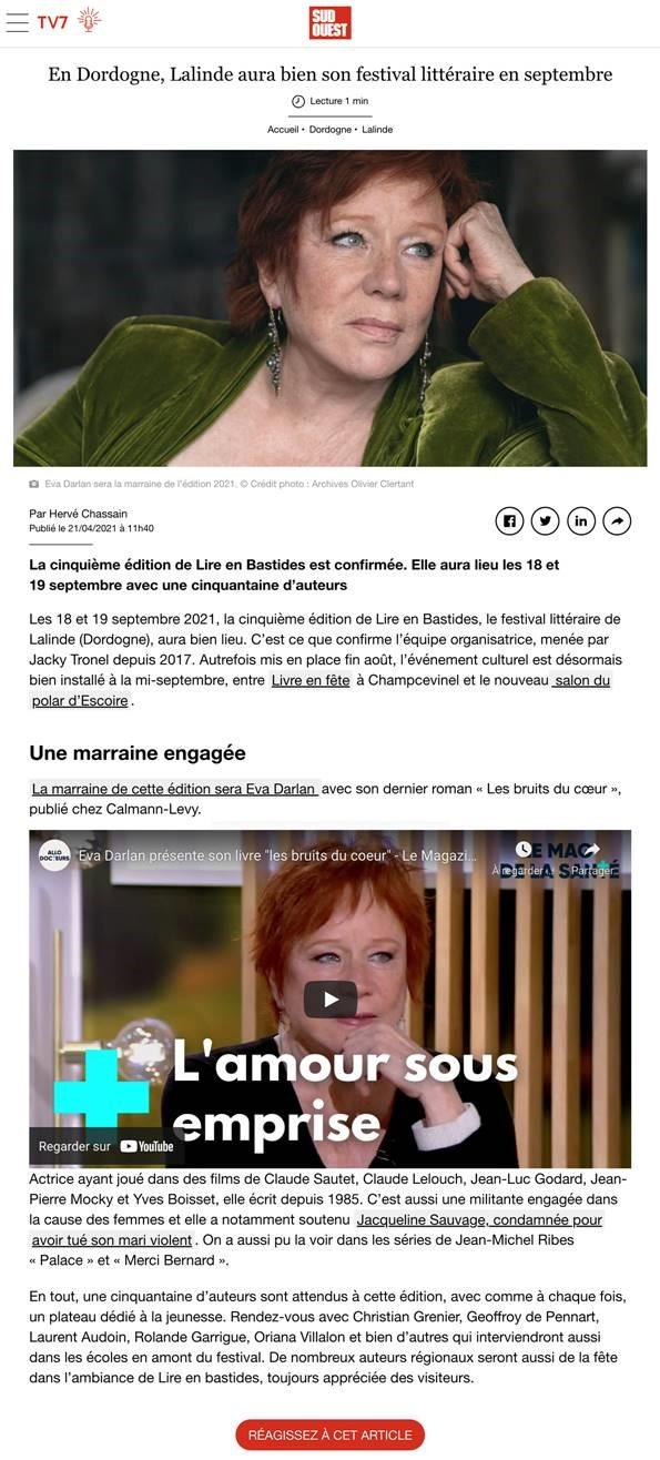Article sud ouest 21 04 2021