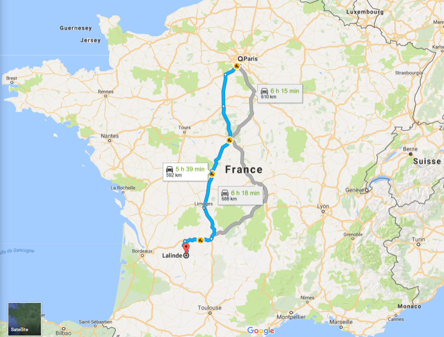 Itineraire google map