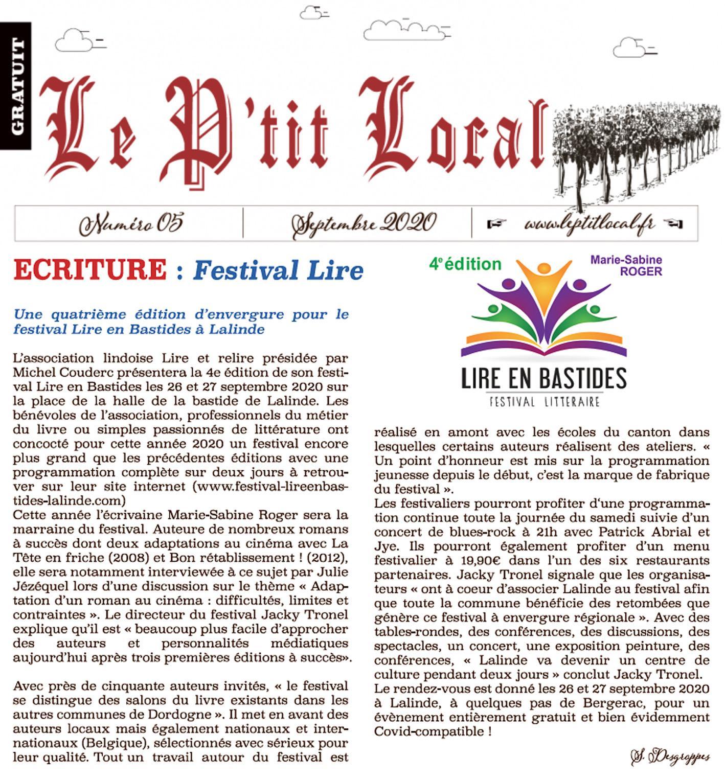 Le ptit local 09 2020