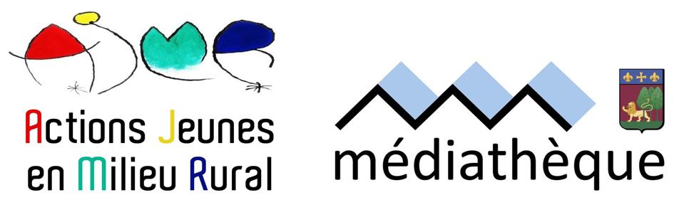 Les logos ajmr et mediatheque