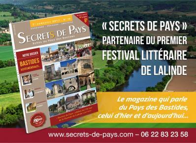 Secrets de pays partenaire du 1er festival litteraire de lalinde
