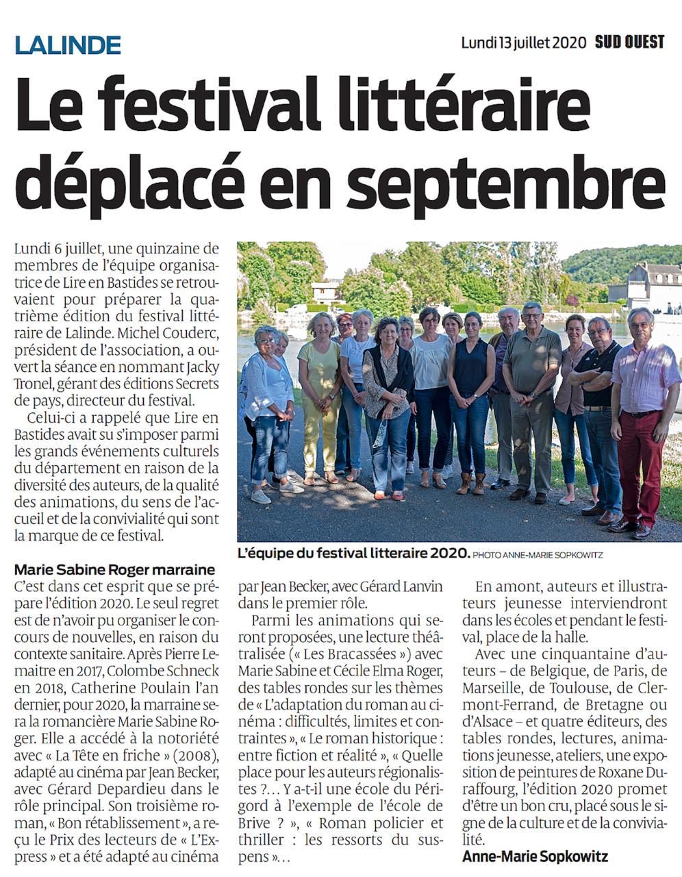 Thumbnail festival lire en bastides sud ouest 13 07 2020